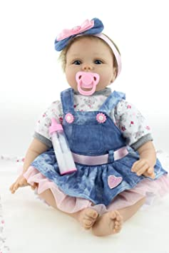 e4f9691f64 Amazon.es: HOOMAI 22inch 55CM realista reborn muñeca bebé niñas vinilo  suave silicona baby doll Niños pequeños baratos Magnetismo Juguetes recien  nacidos ...