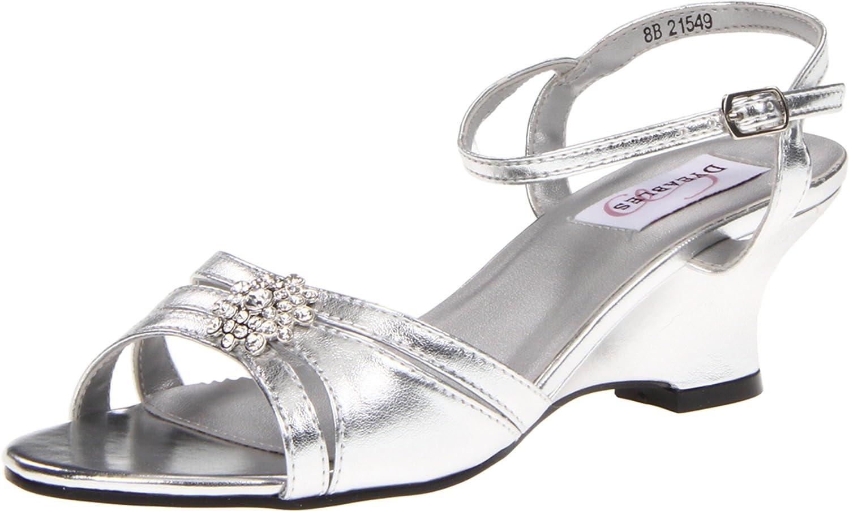 Dyeables Women's Cassie Manmade Platform Sandal B009RBA67A 6 D US|Silver Metallic