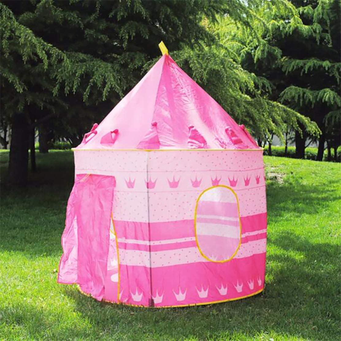 YSINFOD Lovely Kids Tent Children Play Tent And Portable Boys Girls Crown Star Moon Play Tent Playhouse Castle Blue