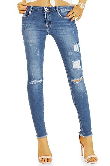 bestyledberlin Damen Röhrenjeans, Skinny Fit Ripped Jeans, Knöchellange SkinnyJeans j43l