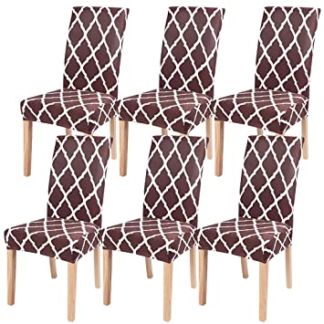 Enjoyable Nibesser Dining Room Chair Covers Set Of 6 Stretch Spandex Dining Chair Slipcovers Elastic Chair Protector Seat Covers For Dining Room Wedding Bralicious Painted Fabric Chair Ideas Braliciousco
