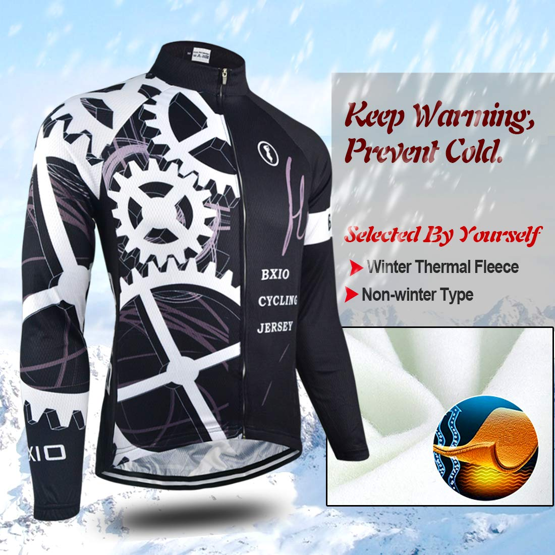 BXIO Winter Radtrikot Pro Racing Fahrradbekleidung Herbst Langarm Radsport Uniformen Mann Sport Jersey 080