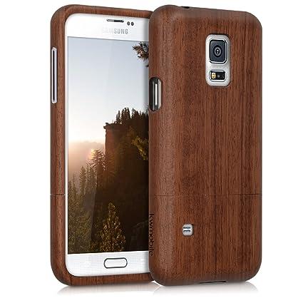 Amazon.com: kwmobile Funda de madera natural con Diseño ...