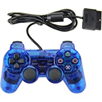 PS2 Game Wired Controller,GamePal for Sony Playstation 2, Blue