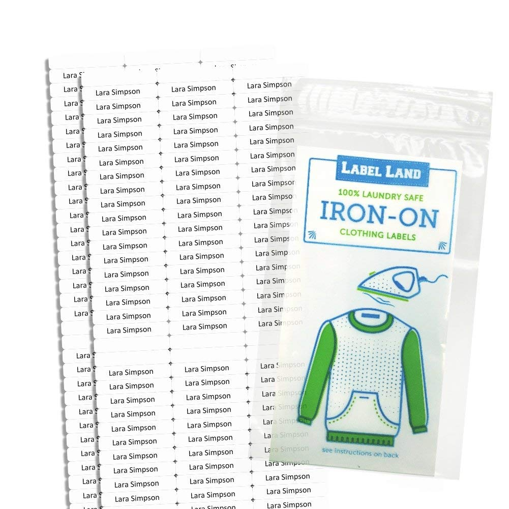 Iron On Clothing Labels- Personalized with Your Name!
