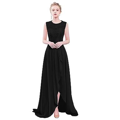 VaniaDress Women Sleeveless Lace Hilo Prom Dress Evening Gown V085LF Black US0
