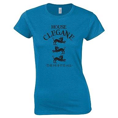 2405c20dff Amazon.com: Swaffy Tees 12 House Clegane Women's Tee Shirt: Clothing