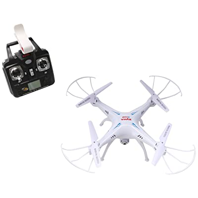 Syma X5SW Explorers2 2.4G 4CH 6-Axis Gyro RC Headless Quadcopter with 0.3MP HD WiFi Camera (FPV) White: Toys & Games