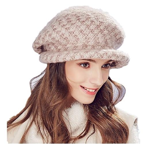 Kenmont Otoño Invierno Mujeres Señora exterior de acrílico de la boina del casquillo del sombrero de...