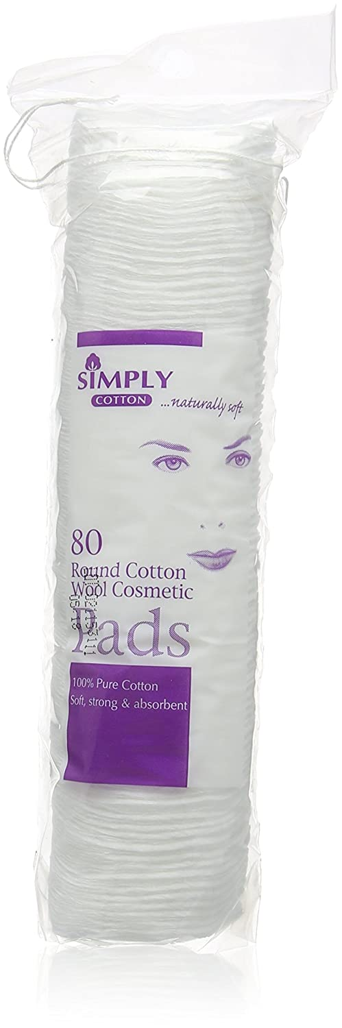 Simply Cotton Cosmetic Pads (80 Pads) SIM0830D