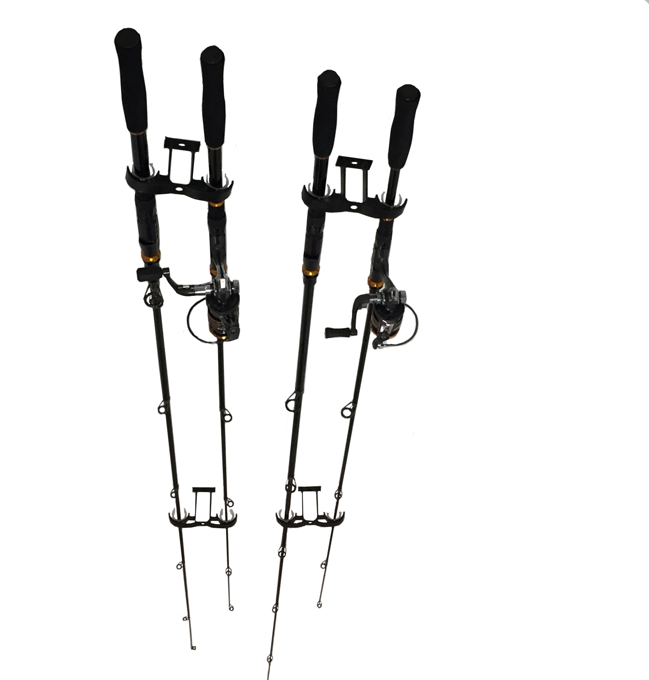 LEOSPORT Overhead 4-Rod Fishing Rod Rack