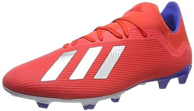 bf39072a36e2 adidas Men's X 18.3 Fg Football Boots, Multicolour (Rojact/Plamet/Azufue 000