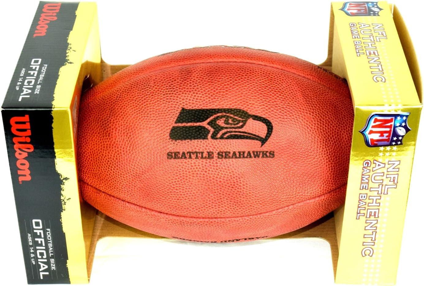 NFL Original Balón de fútbol con logotipo del equipo, Seattle ...