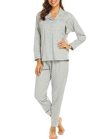 87c801b567702 Ekouaer Women's Maternity Nursing Cotton Pajamas Breastfeeding Sleepwear Set