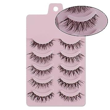 0e11865bee2 Doctag paradise 5 pairs natural false eyelashes fake lashes makeup kit 3D  Mink Lashes eyelash extension