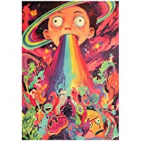 Rick And Morty Kraft paper retro poster Cafe decorative painting