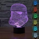 Star Wars Stormtrooper 3D 7-Color Gradual Changing LED Touch Switch Desklamp Nightlight( Clone Trooper Model)