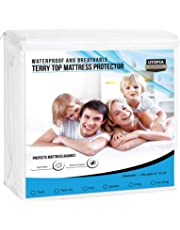Premium Hypoallergenic Waterproof Mattress Protector - Fitted Mattress Cover - Utopia Bedding
