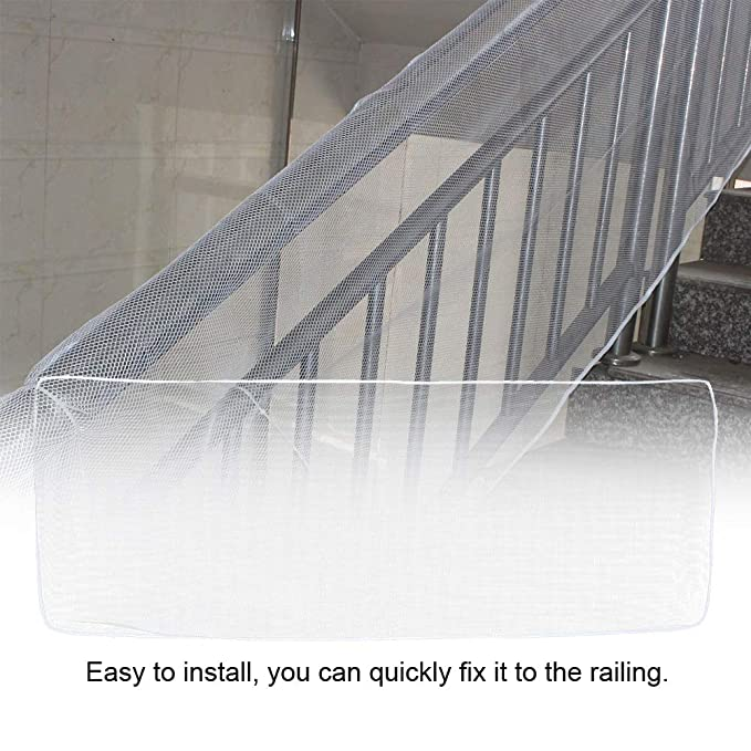 Polyester Stairs Net 3 Meters Balcony Safety Net Kids Children Pet Stairs Railing Guard Accident Prevention Mesh Brown