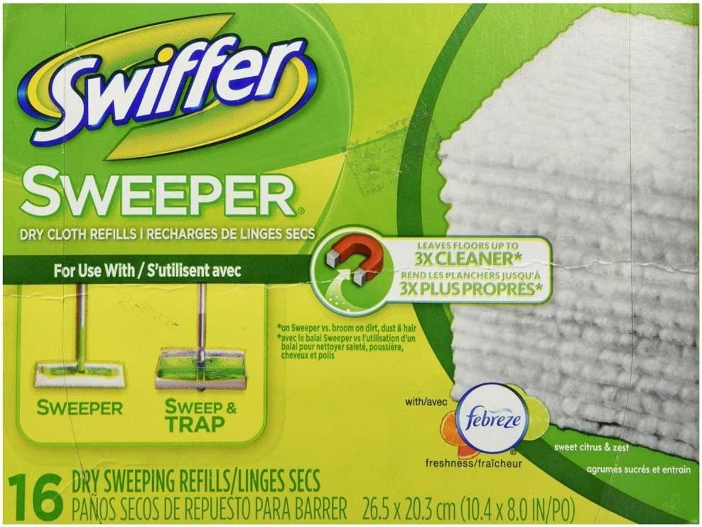 Swiffer Sweeper Dry Sweeping Cloths 16 ea (Pack of 3)