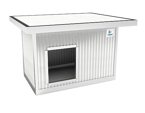 TRDC Caseta Aislante para Perro Standard con Techo Aumentado para el Exterior (Artic 25 mm