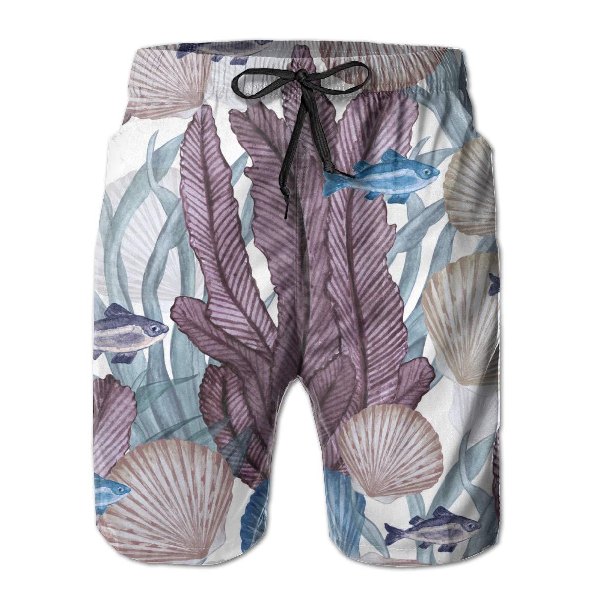 Summer Surfing Shorts Side Pocket Swim Trunks 3D Print Beach Board Shorts