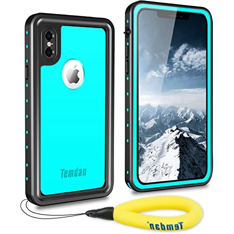 premium selection e7cb2 4dfcb Temdan 2018 iPhone X/XS Waterproof Case, Waterproof Full-Body Rugged Case  with Built-in Screen Protector Wireless Charging Support Waterproof Case  for ...