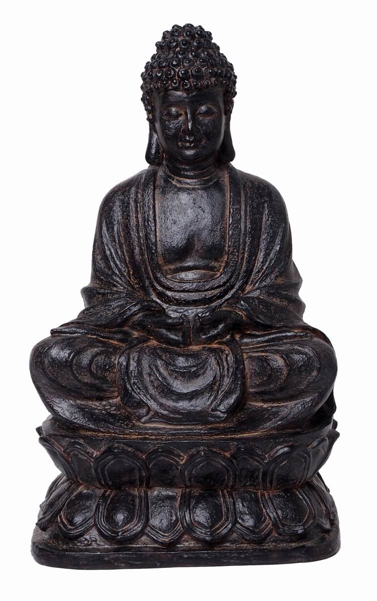 Hosley 11.93'' High, Decorative Tabletop Resin Buddha Statue. Ideal Gift for Wedding, Home, Party Favor, Spa, Reiki, Meditation, Bathroom Settings. O9