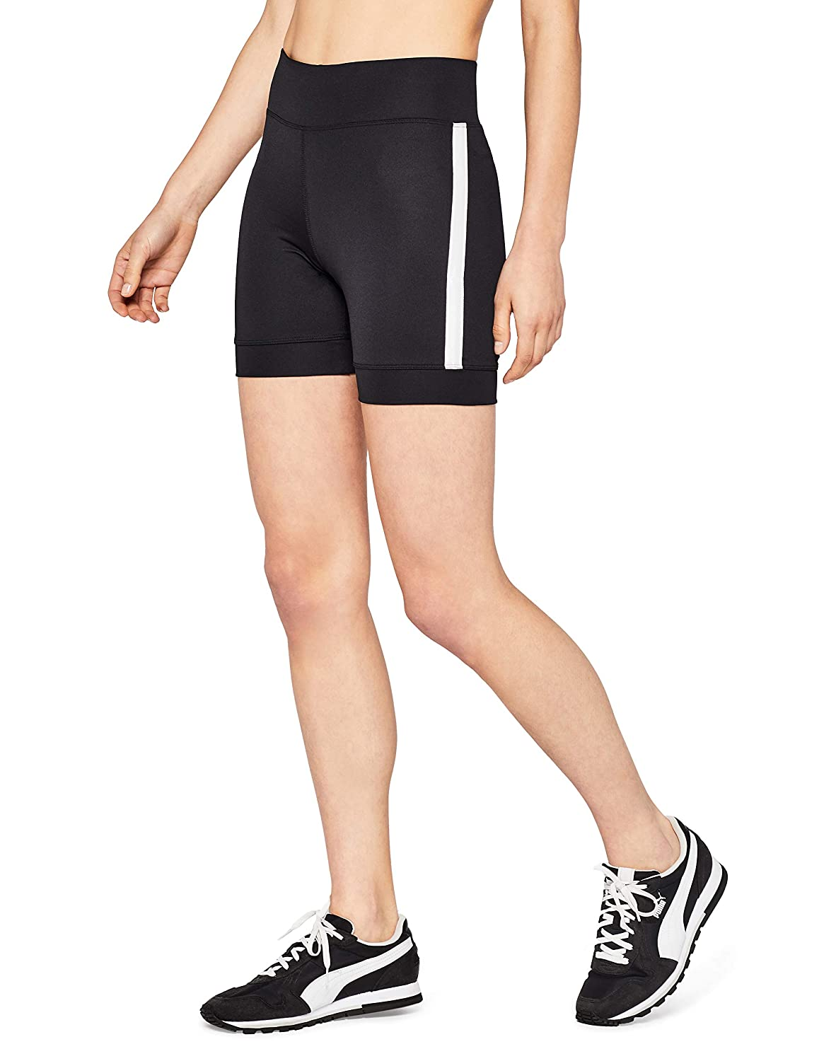 TALLA 44 (Taille Fabricant: X-Large). AURIQUE Short Ciclista con Banda Lateral Mujer