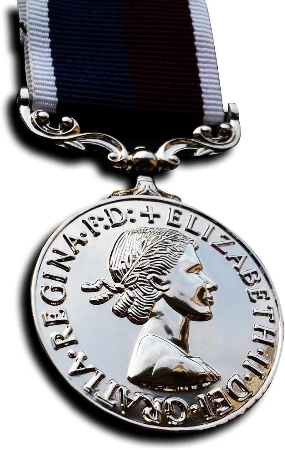 Goldbrothers13 Medalla Militar de la Royal Air Force Largo Servicio y Medalla de Buena conducta RAF WW2 British Medalla Repro: Amazon.es: Deportes y aire libre