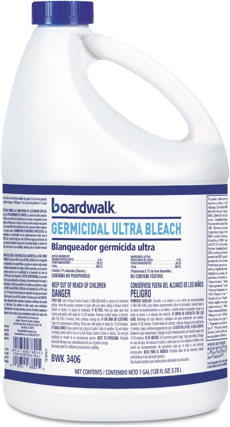 BWK3406 Boardwalk Ultra Germicidal Bleach, 1 Gallon Bottle, 6/Carton
