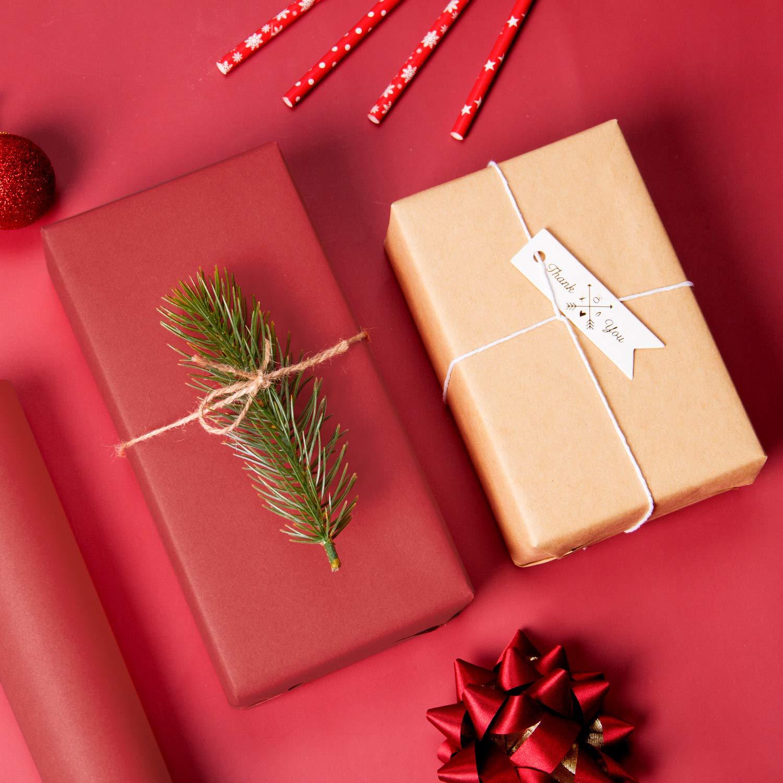 Papier DEmballage /Épais Rouge Pour No/ël 76,2 CM X 30 M Toutes Les Occasions De LArtisanat RUSPEPA Rouleau De Papier Kraft Rouge La Saint-Valentin