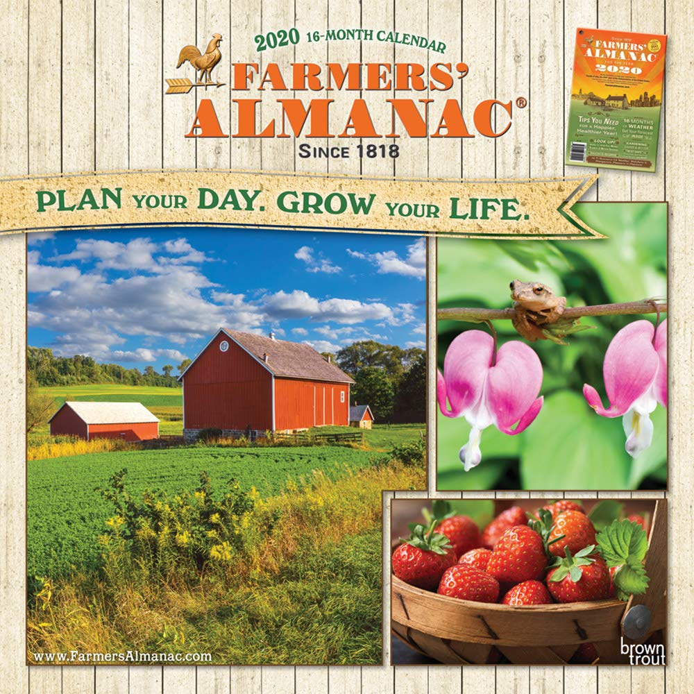 Farmers Almanac 2020 12 X Inch Monthly Square Wall Calendar Weather Farm Gardening Health Organic Browntrout Publishers Editing Team Design 9781975411886 Amazon