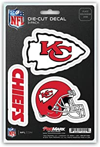 NFL Kansas City Chiefs Team Decal, 3-Pack
