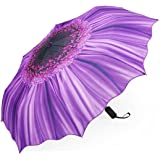 NFTCompany Sunflower Umbrella Manual Three Folding Windproof Opening and Closing Anti-ultraviolet Sun Umbrella