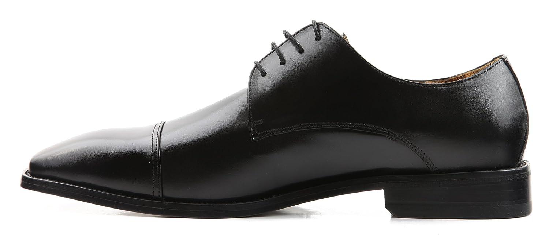 Wizfort Mens Oxford Shoes Black Dress Shoes for Men Dress Black Lace up Shoes