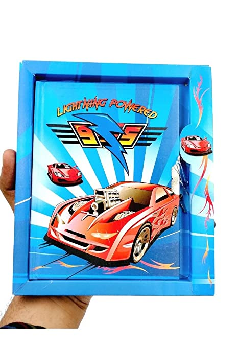 Blue Color Car Theme Lock Diary In A Case For Return Gift Kids