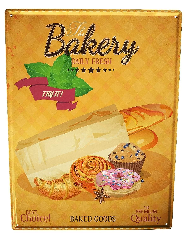 Cartel Letrero de Chapa XXL Nostalgico Profesional Panadería ...