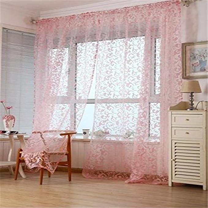 Pink medium PU Ran 199,9/x 100,1/cm poliestere floreale Home Living bagno finestra tenda