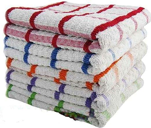 ARITRADERSLTD Jumbo - Paños de Cocina (100% algodón, Tacto Suave), Calidad de Hotel, Calidad Profesional, Disponible en Paquetes de 3, 6, 9, 12, 15, 3 Unidades: Amazon.es: Hogar