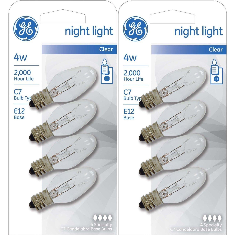 Clearmax Night Light Plug W On Off Toggle Lamp Wiring A With Ge Lighting Hpc 65966 712395882191 Bulb Standard 4 Watt Clear
