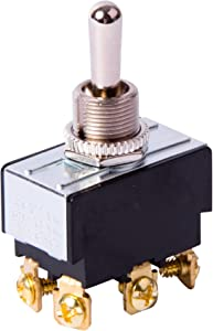 Gardner Bender GSW-123 Electrical Toggle Switch, DPDT, Mom ON-OFF-Mom-ON, 20 A/125V AC, Screw Terminal