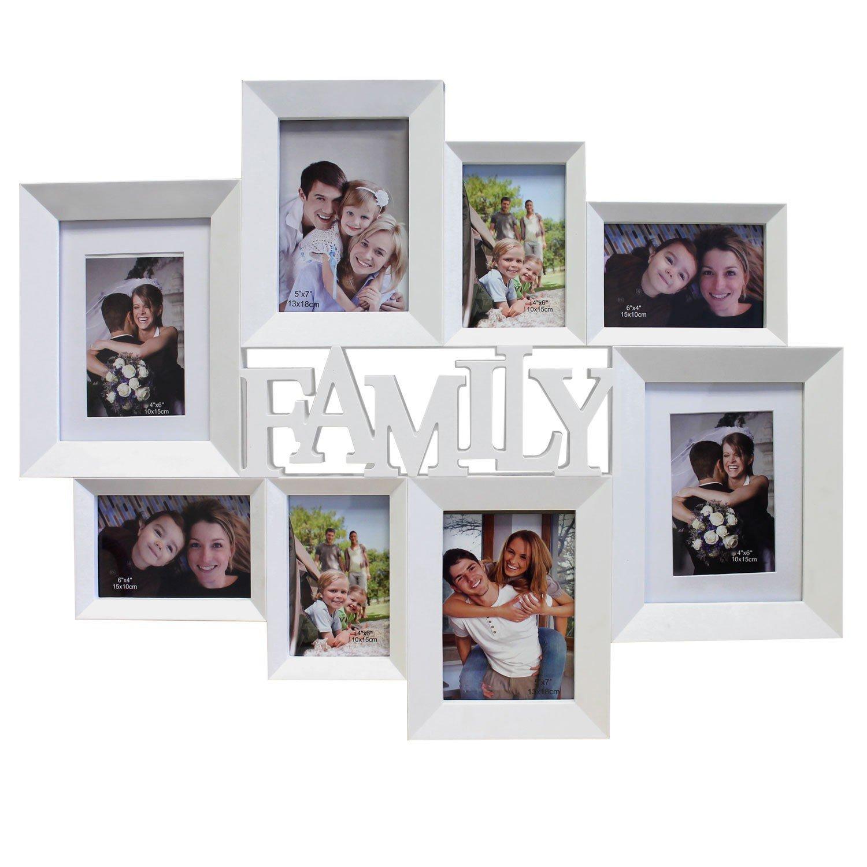 Amazon.de: Bilderrahmen \'Family\' - Fotogalerie für 8 Bilder ...