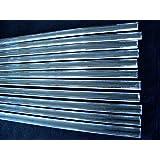 Devardi Glass Boro FLAT Rods COE 33 Clear Encasing Strips, 1 lb