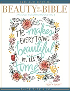 Beauty In The Bible Adult Coloring Book Volume 3 Premium Edition Christian