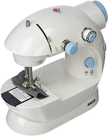 Jocca 6642 Máquina de coser portátil, blanca