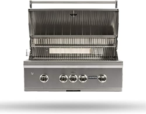 Coyote C-Series 36-Inch 4-Burner, Built-in Natural Gas Grill – C2C36NG
