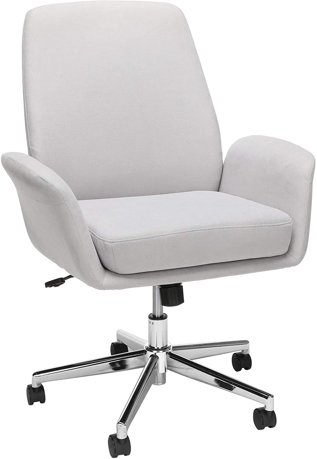 OFM Core Collection Modern Fabric Upholstered Office Chair, Cushioned Arm, Gray