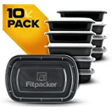 Fitpacker Meal Prep Containers Certified BPA-free - Made in the USA - Reusable, Microwavable - 28 Oz - 10pk