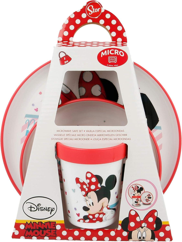 Minnie Mouse Kinder Mikrowellen-Geschirr Set 3 tlg.
